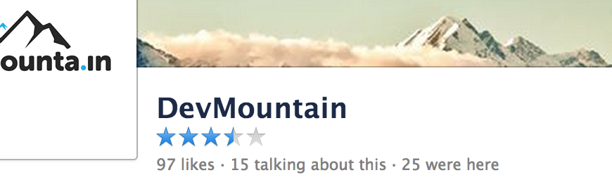 Facebook pages ratings with 5 stars