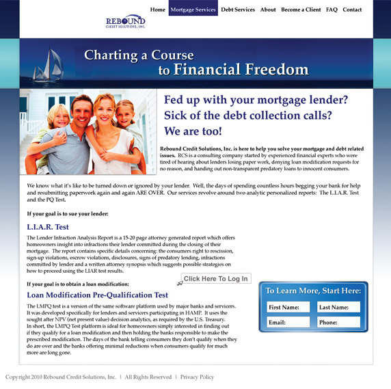 This website is horribly aligned. Notice the left side of the page is much heavier than the right. The fonts are not all aligned correctly and the picture is has no padding (white space) around it like the paragraphs do. The logo in the navbar seems to be floating randomly and would be much better being aligned in the middle and to the left. The information box and button seems to have no alignment with any other element on the page. The footer at the bottom of the page is even mis-aligned because it is too far to the left when it should be align with the left side of the containing div above it.